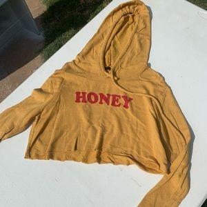 Honey cropped hoodie